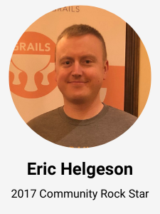 Eric Helgeson - 2017 Grails Rock Star Award